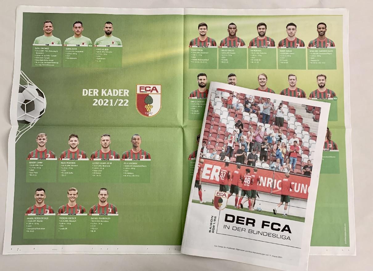 Die neue Saison beginnt! Der FCA in der Bundesligasaison 2021/2022