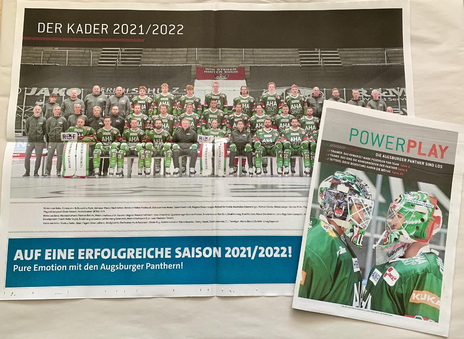 Die Augsburger Panther starten in die Saison 2021/2022