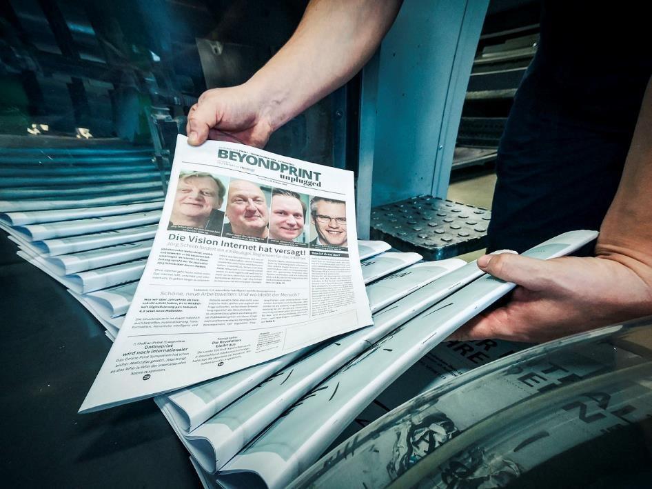 Hochwertiger Zeitungsdruck überzeugt