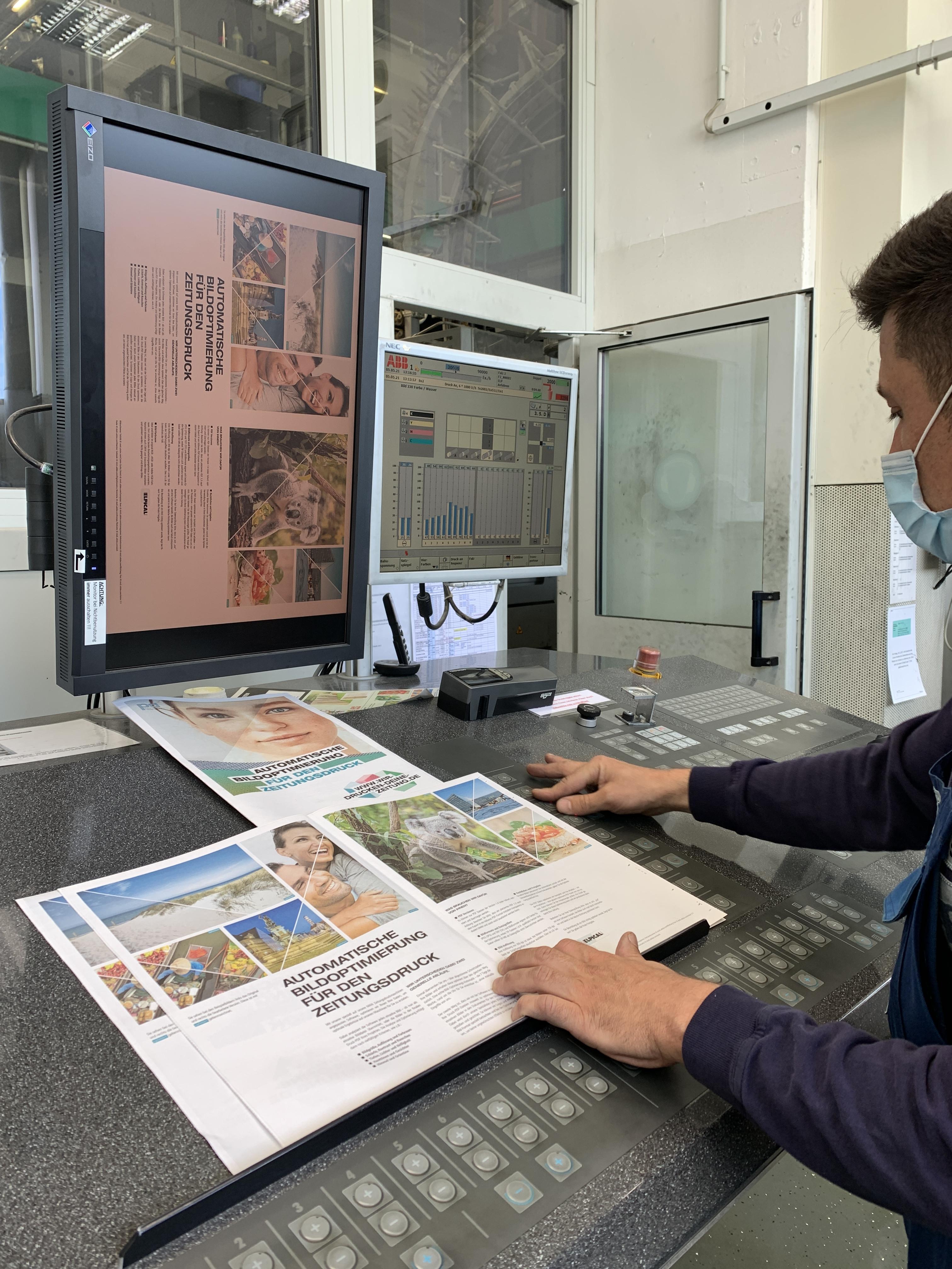 Automatische Bildoptimierung für den Zeitungsdruck