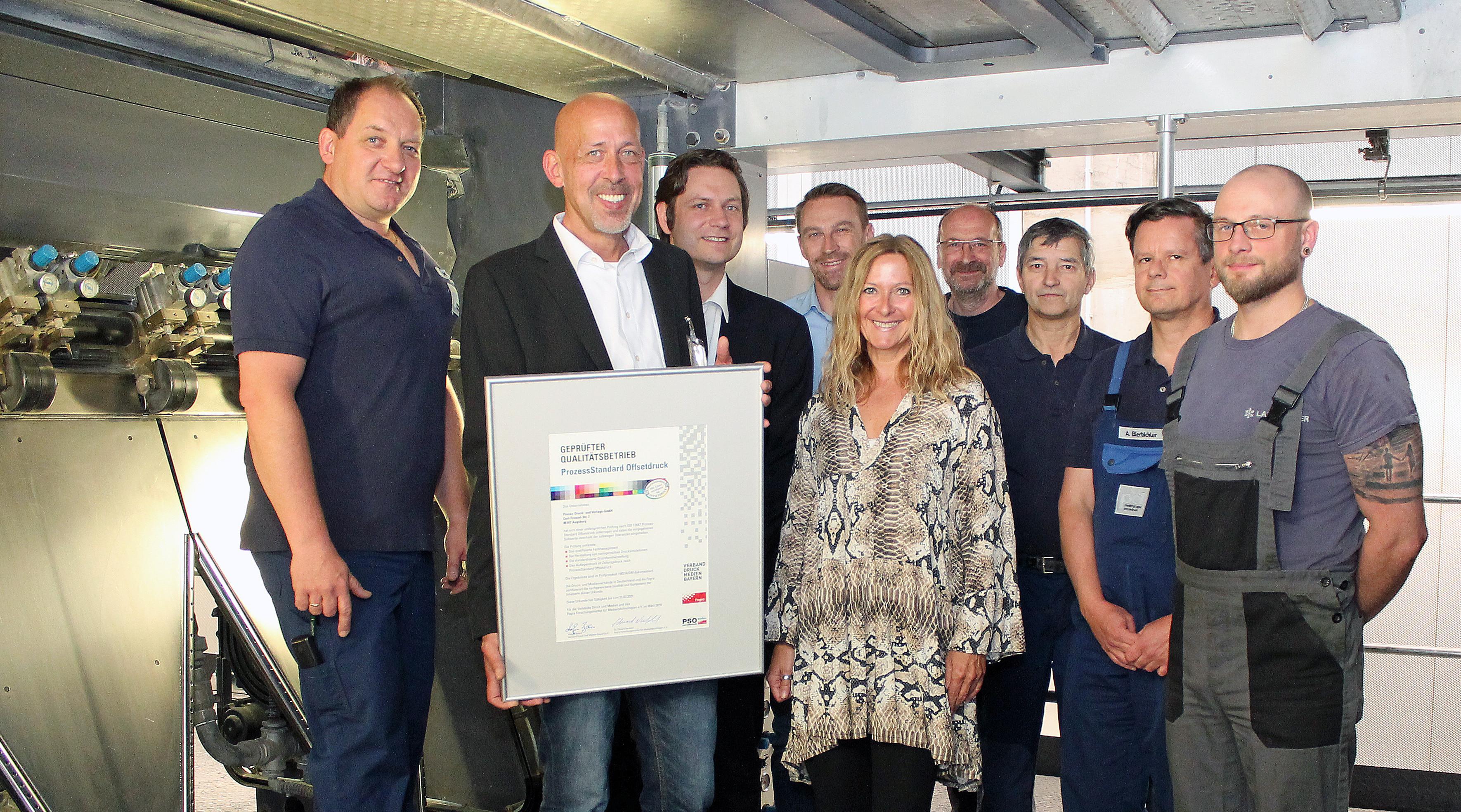 Presse-Druck Augsburg erhält fünfte PSO-Zertifizierung in Folge